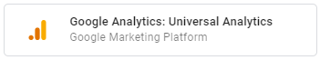 At this point just the Universal Analytics Tag with pageviews and events is supported.